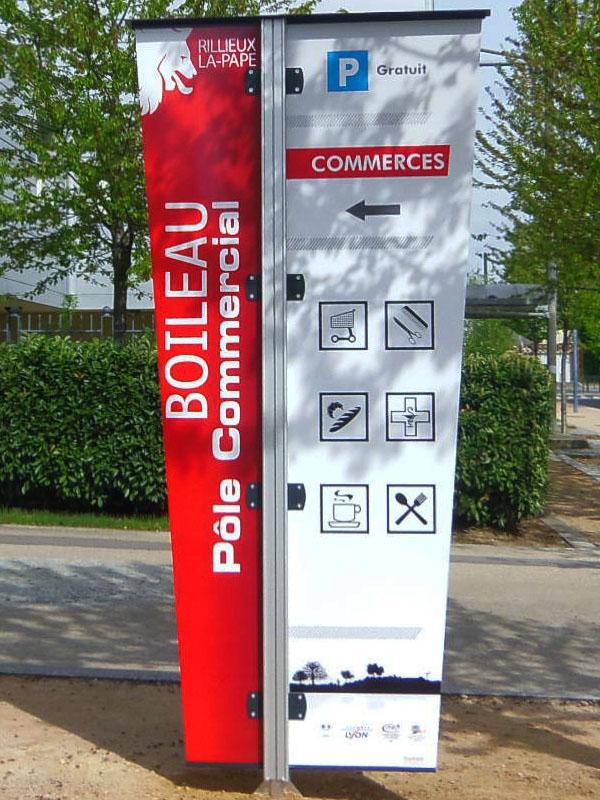 Panneau de Boileau Pôle Commercial, imprimé numériquement