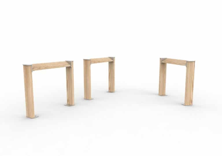 Deux assis-debout NUT à côté et espacés qui font face à un assis-debout NUT seul
