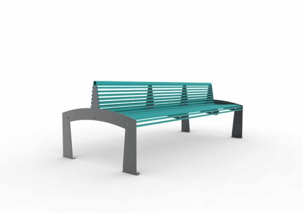 Un banc double-face TUB bleu