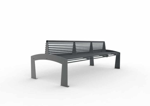 Un banc double-face TUB gris