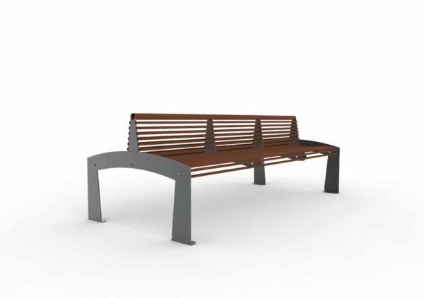 Un banc double-face TUB marron