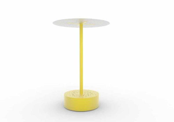 Un banc galet abrité XL LUD jaune