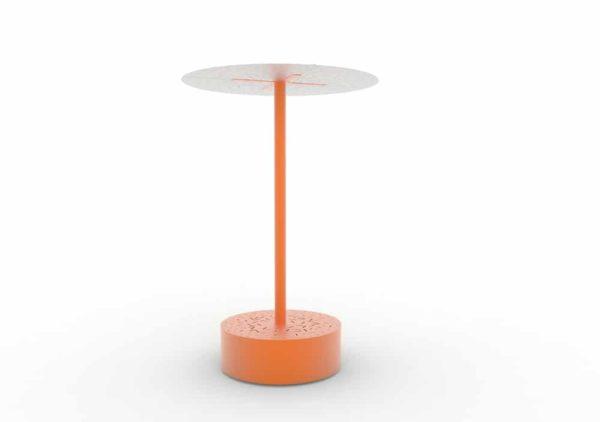Un banc galet abrité XL LUD orange