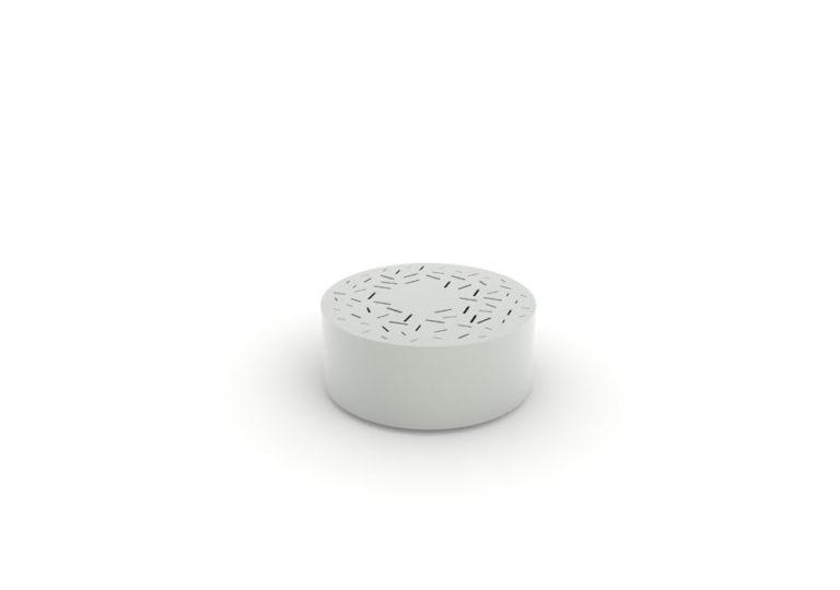 Un banc galet LUD gris