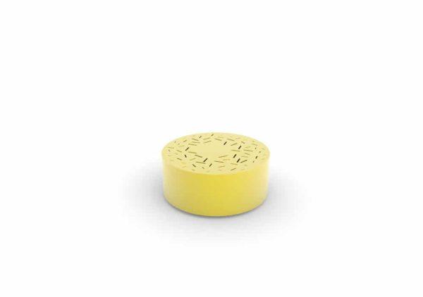 Un banc galet LUD jaune
