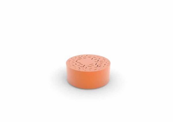 Un banc galet LUD orange