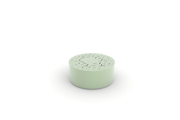 Un banc galet LUD vert