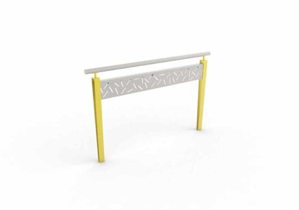 Une barrière LUD jaune