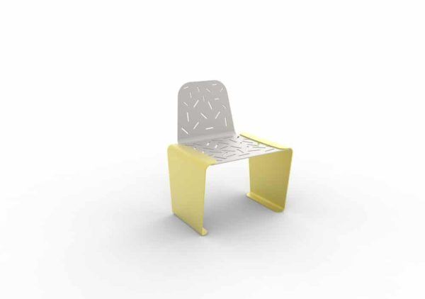 Une chaise LUD jaune