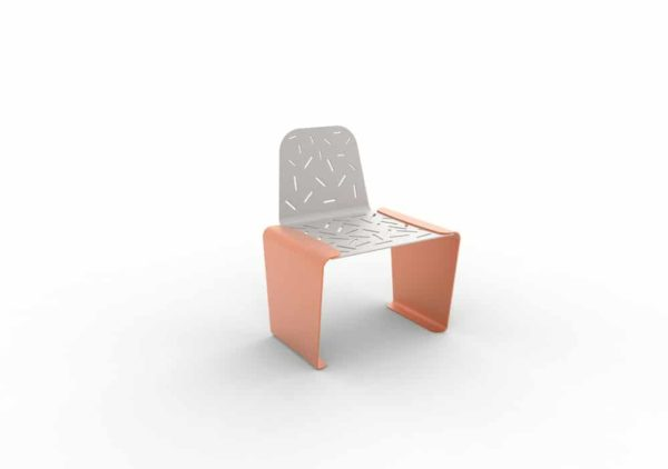 Une chaise LUD orange