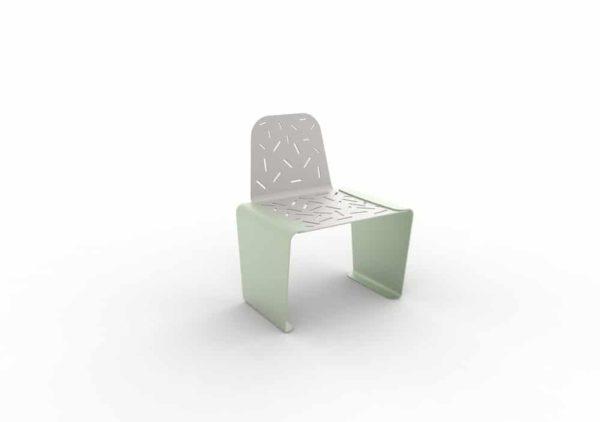 Une chaise LUD verte