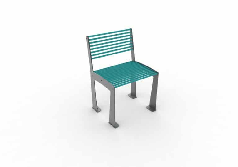 Une chaise TUB bleue
