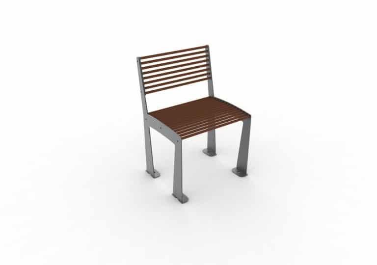 Une chaise TUB marron