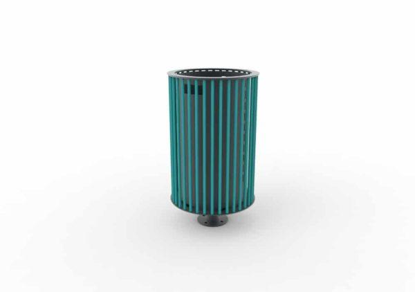 Une corbeille cylindrique TUB bleue