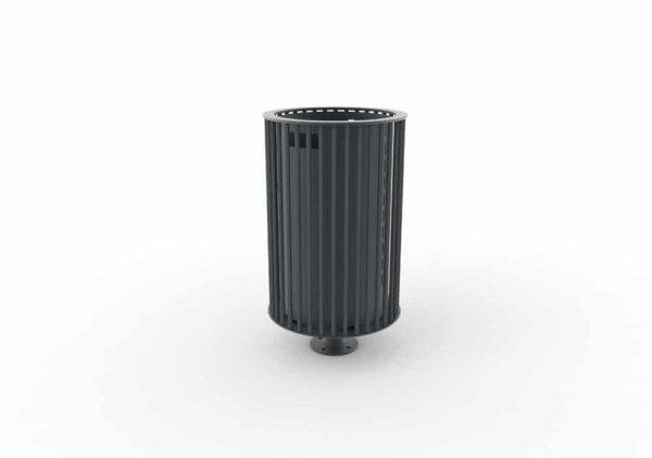 Une corbeille cylindrique TUB grise