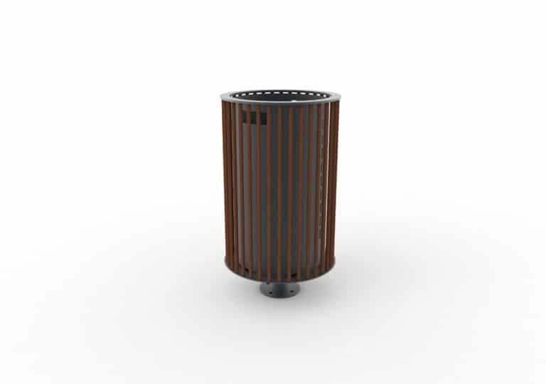 Une corbeille cylindrique TUB marron