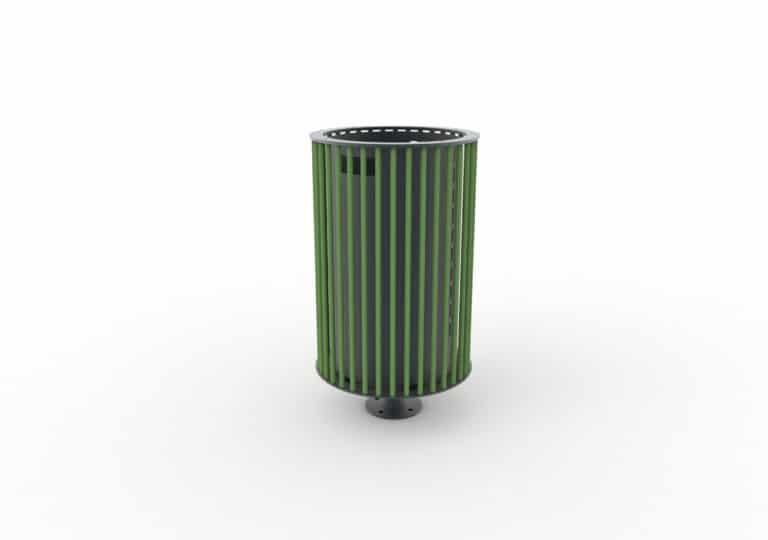 Une corbeille cylindrique TUB verte