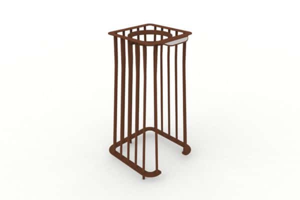 Une corbeille Vigipirate carrée TUB marron
