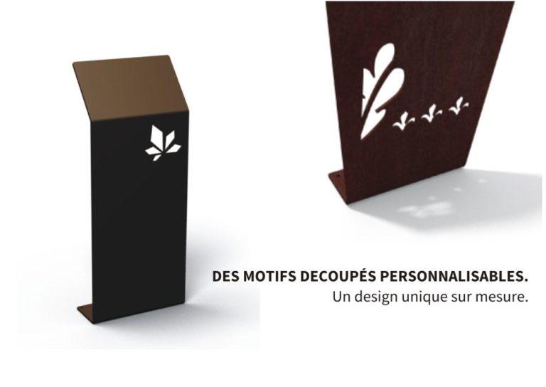 Des motifs découpés personnalisables pour un design unique et sur-mesure