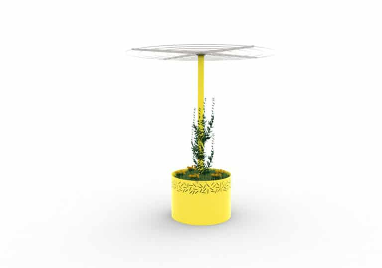 Une jardinière abri treillage LUD jaune