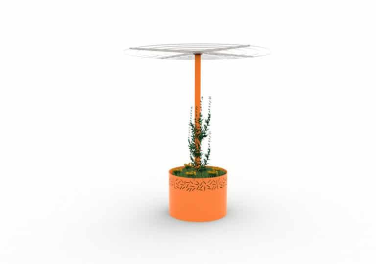Une jardinière abri treillage LUD orange