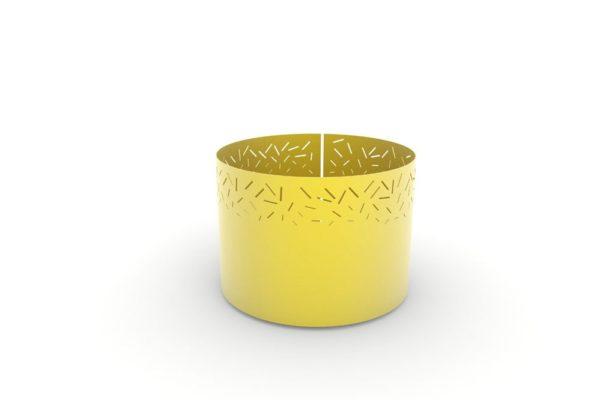 Une jardinière XL LUD jaune