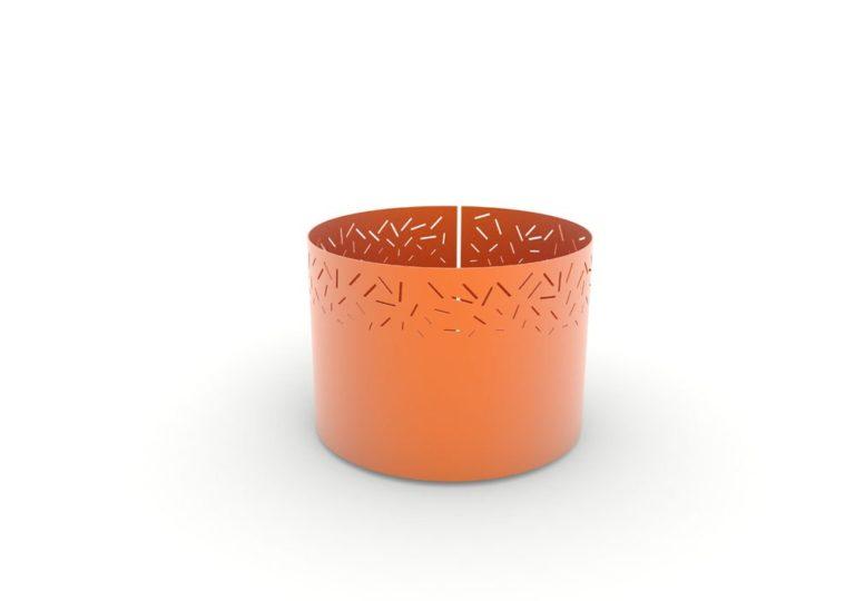 Une jardinière XL LUD orange