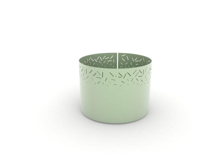 Une jardinière XL LUD verte
