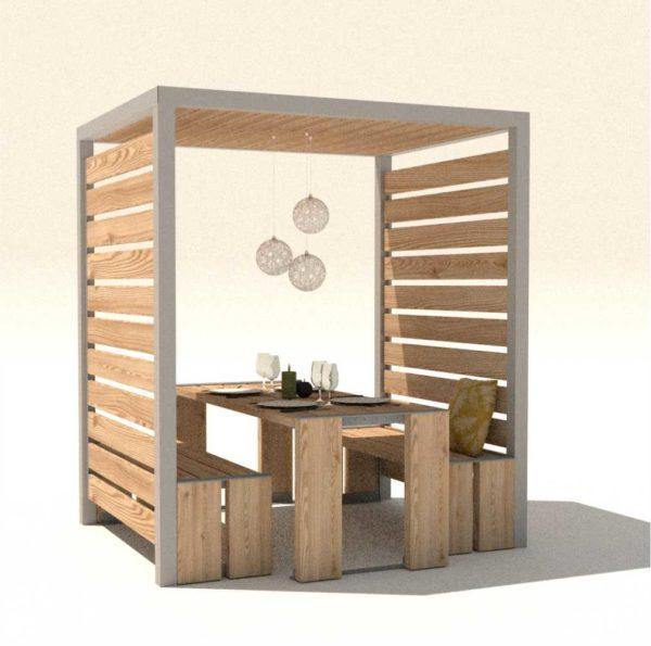 table en bois abri