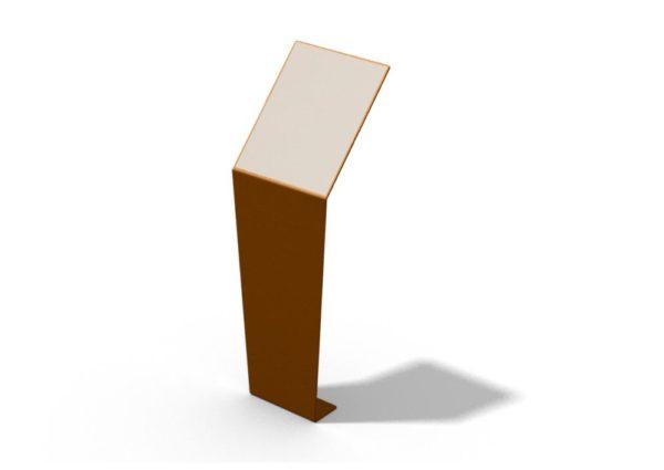 Rendu d'un pupitre et table de lecture ICARE au format portrait