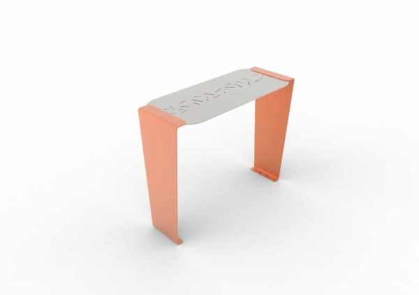 Une table bar LUD orange