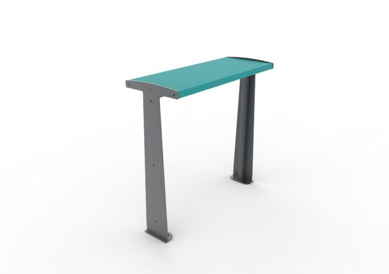 Une table bar TUB bleue