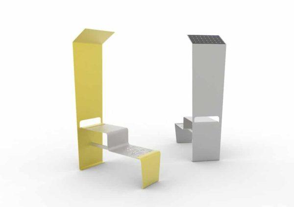 Deux tables connectées LUD : une jaune et une grise