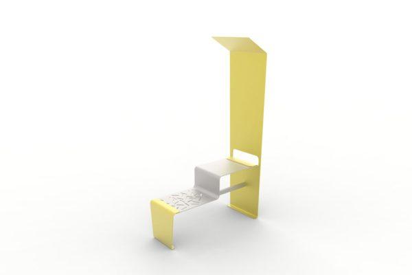 Une table connectée LUD jaune