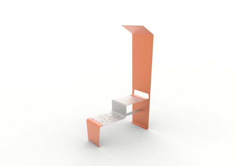 Une table connectée LUD orange