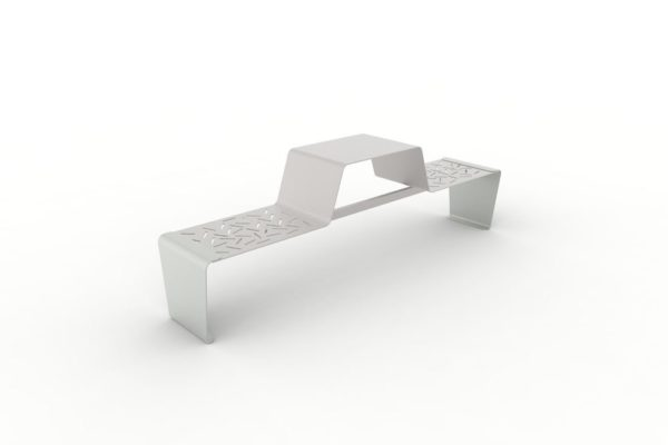 Une table gigogne duo LUD grise