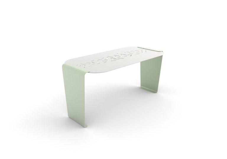 Une table LUD verte
