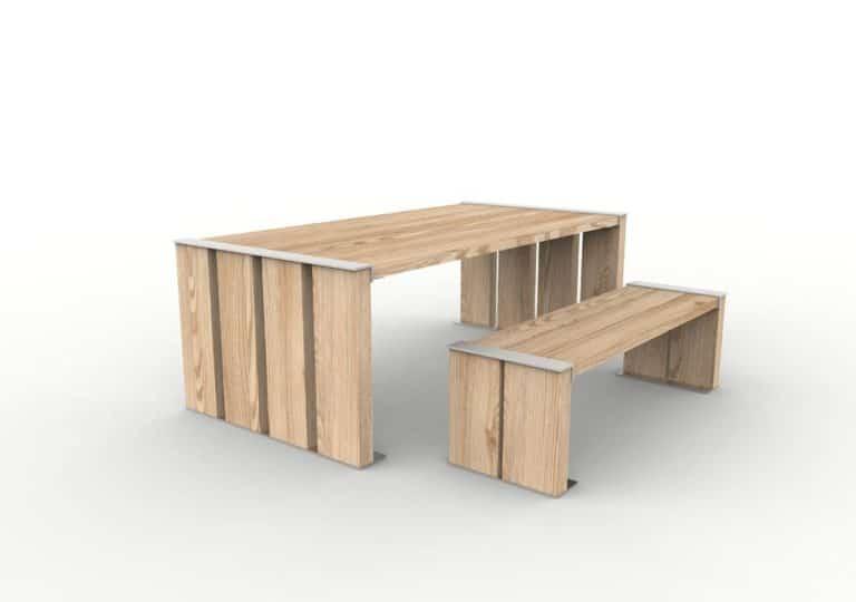 Une table NUT avec sa banquette NUT