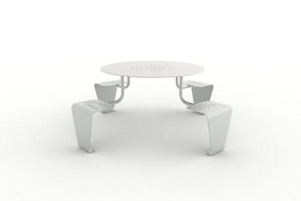 Une table pique-nique LUD grise
