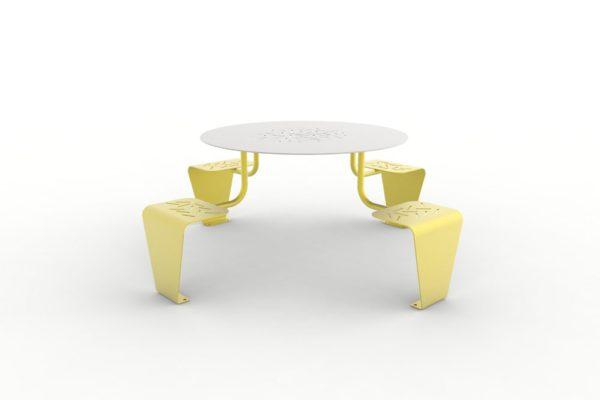 Une table pique-nique LUD jaune