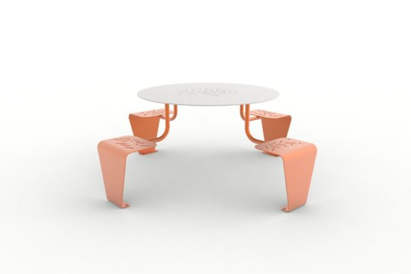 Une table pique-nique LUD orange