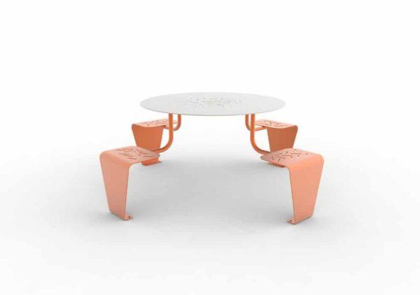 Une table pique-nique LUD orange