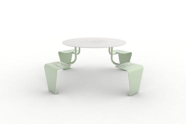 Une table pique-nique LUD verte