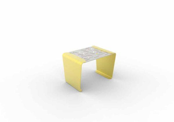 Un tabouret LUD jaune