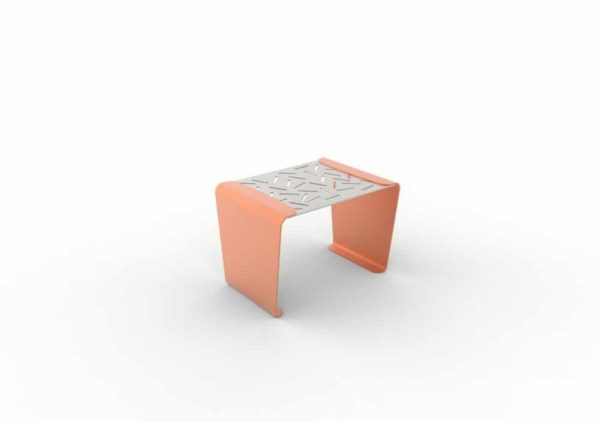 Un tabouret LUD orange