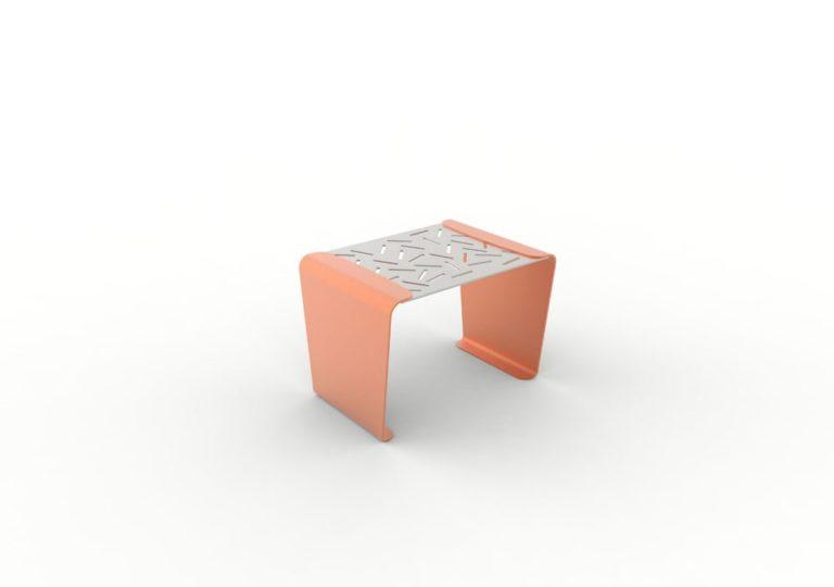 Un tabouret LUD orange