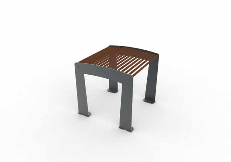 Un tabouret TUB marron