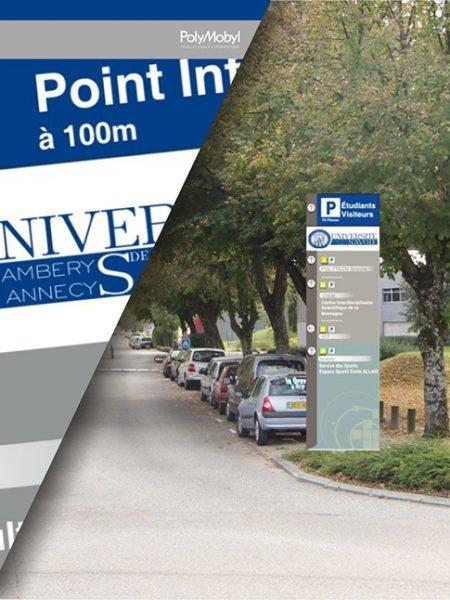 projet signalétique polymobyl pour université de savoie
