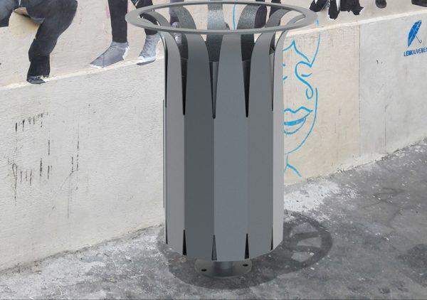 Insertion d'une corbeille Pétale dans un milieu urbain