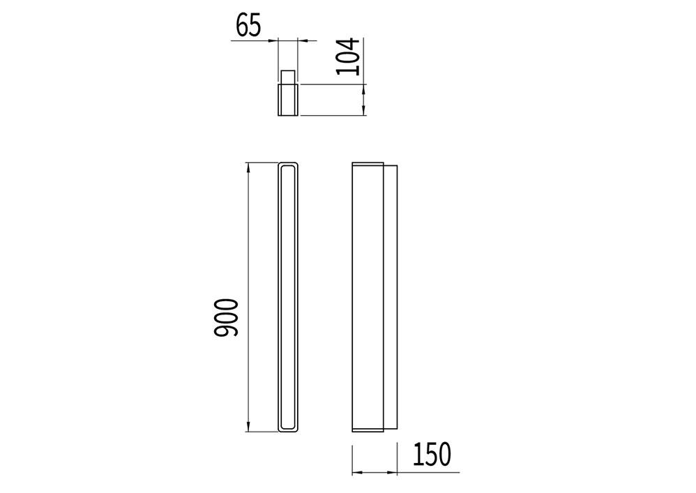 Le potelet NUT mesure 900 mm de hauteur et 150 mm de largeur.
